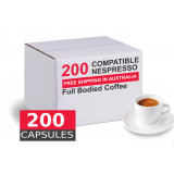 200 capsules Nespresso compatible - Full bodied  by Best Espresso *** Below cost ***