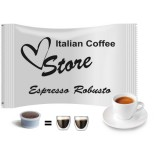 Robusto Espresso Forte - 50 EP MAXI Compatible  double shot coffee capsules by Italian Coffee