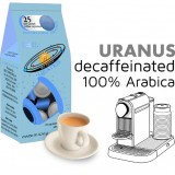 Uranus 100% Arabica decaf  25 Nespresso Compatible coffee capsules by Best Espresso